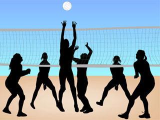 Beach-Volley-net